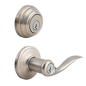 Tustin Combo Pack  , Satin Nickel 991TNL 15 SMT | Kwikset Door Hardware