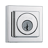 993/994 Square Deadbolt , Polished Chrome 993 SQT 26 SMT | Kwikset Door Hardware