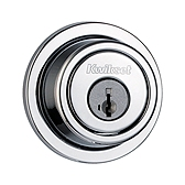 993/994 Round Deadbolt  , Polished Chrome 994 RDT 26 SMT | Kwikset Door Hardware