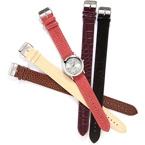 Bay Studio Five Band Croco Watch Set