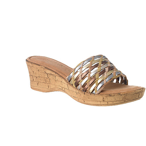 Italian Shoemakers Picasso Womens Wedge Sandals