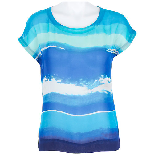 Josephine Studio Watercolor Sheer Top