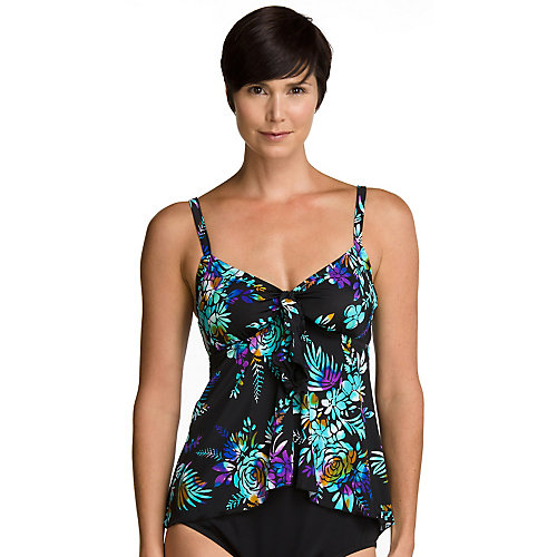 Maxine Of Hollywood Water Garden Swing Tankini Top