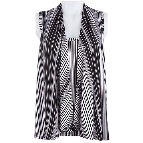 Milano Sleeveless Stripe Duet Top