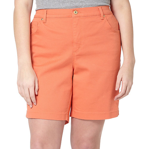 Gloria Vanderbilt Plus Amanda Solid Shorts