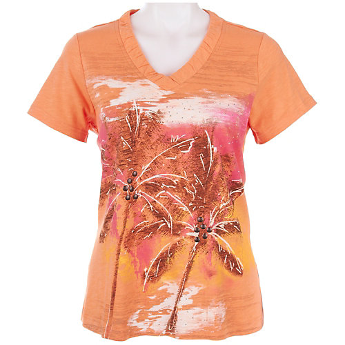 Coral Bay Petite Embellished Palm Tree Top