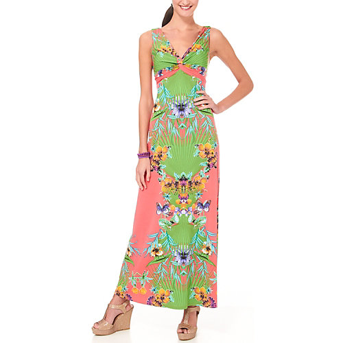 Ronni Nicole Tropical Oasis Twist Maxi Dress