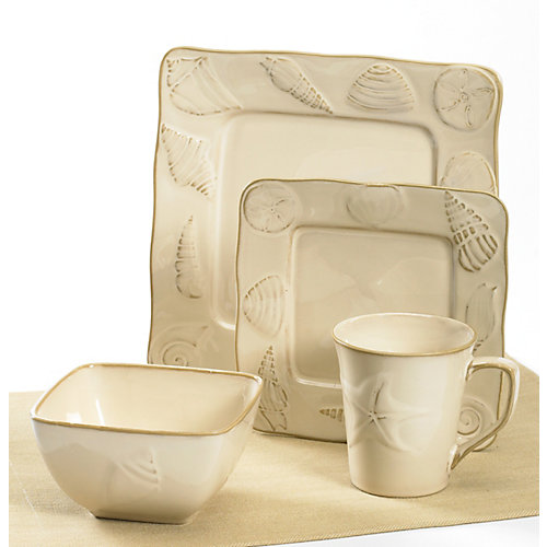 Florida Marketplace 4-pc. Seashore Dinnerware Set