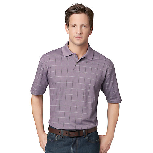Van Heusen Windowpane Polo Shirt