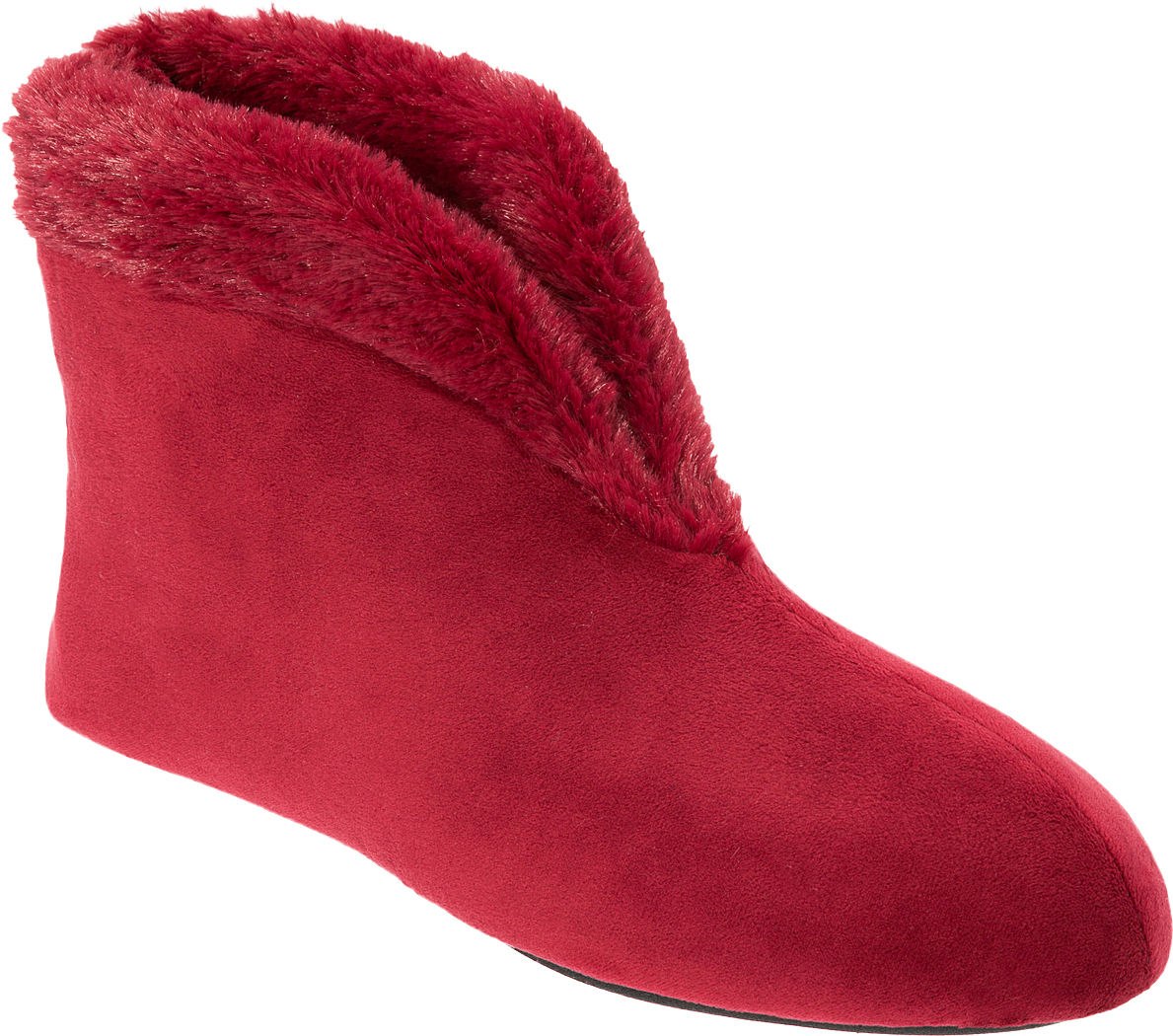Dearfoams Womens Solid Velour Boot Slippers