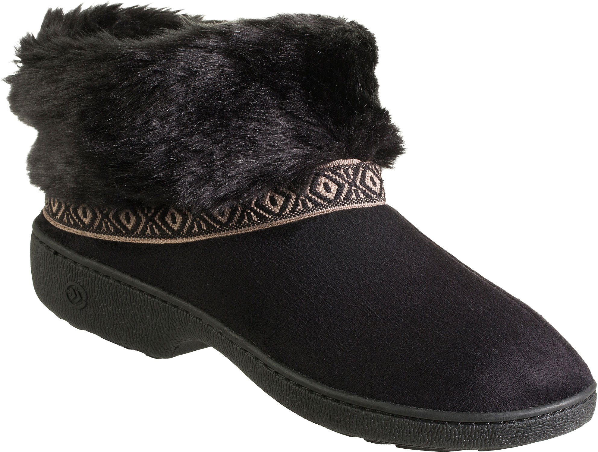Isotoner Womens Microsuede Fur Boot Slippers | eBay