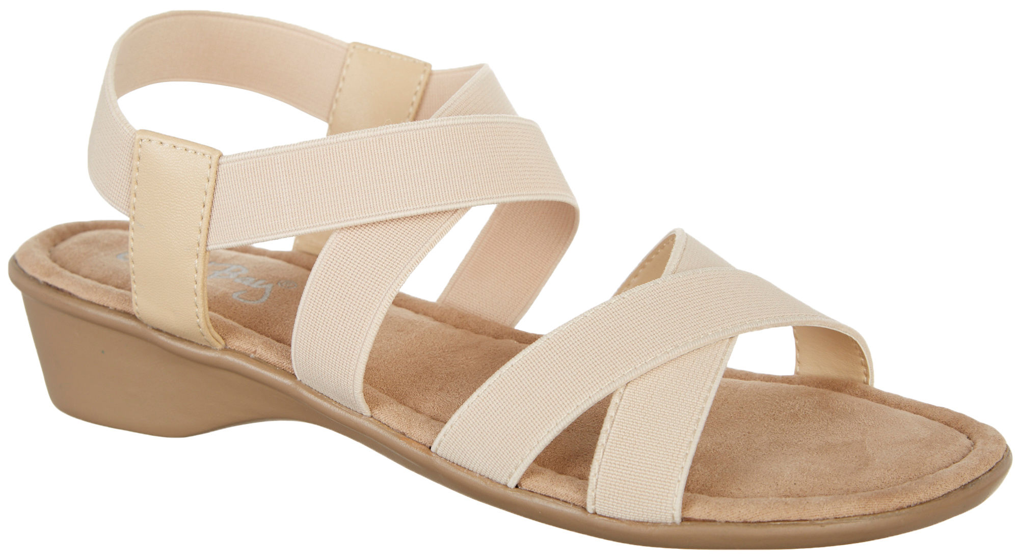 Coral Bay Womens Millie Strech Slingback Sandals