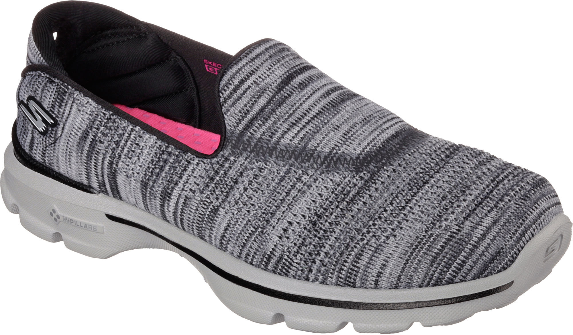 skechers womens gowalk 3 fit knit walking shoes ebay