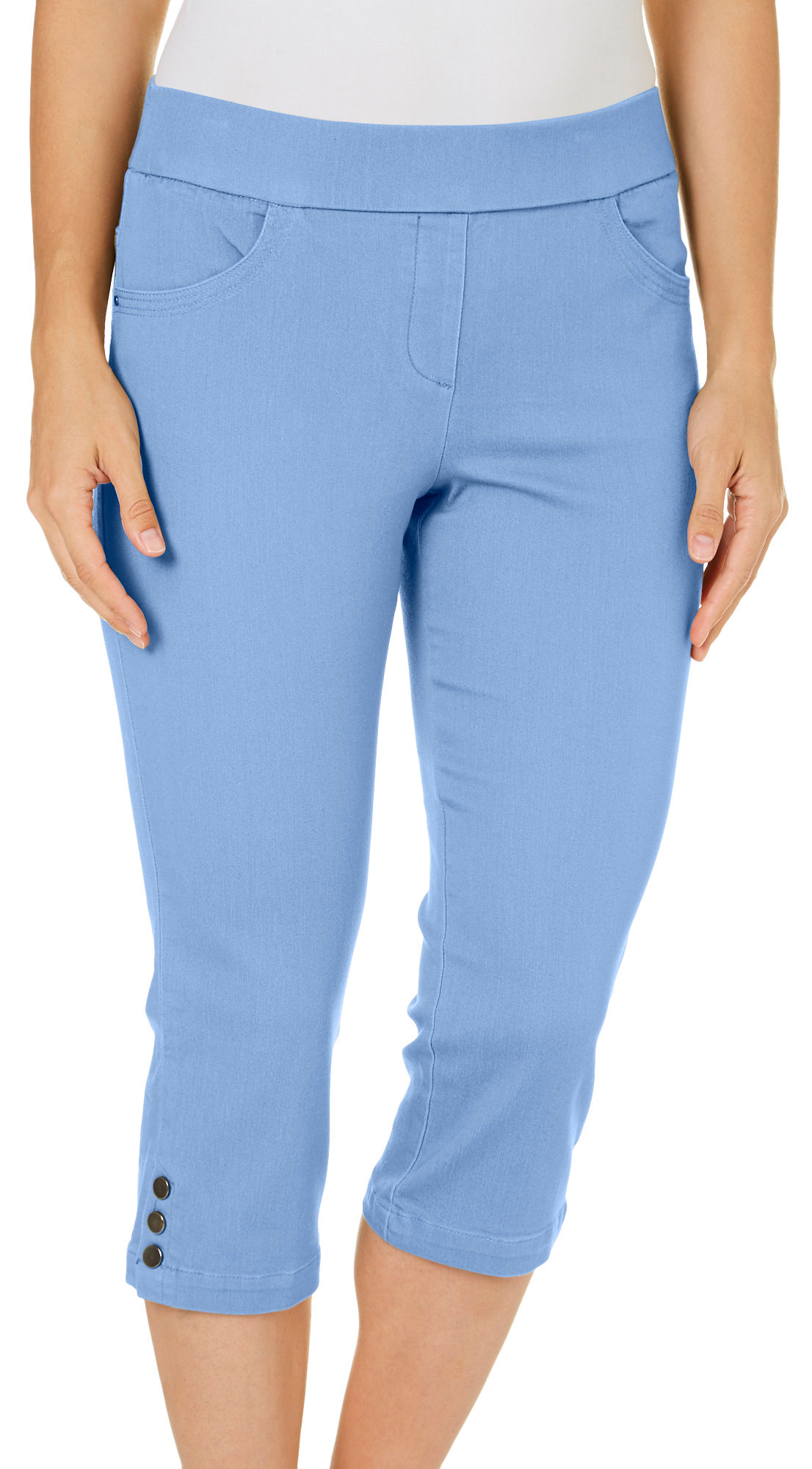 Coral Bay Womens Pull-On Stretch Capris | eBay