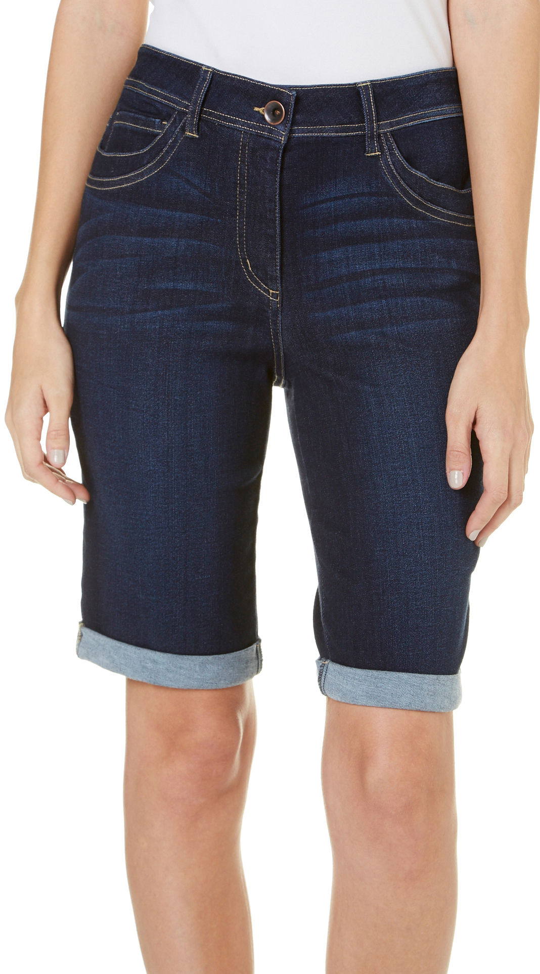 Women's Bermuda Shorts. Women's Bermuda shorts are a wonderful option for staying cool during the summer. You get to show some leg without having to deal with short shorts, and a variety of fits and styles ensures you find the right shorts for your body type.