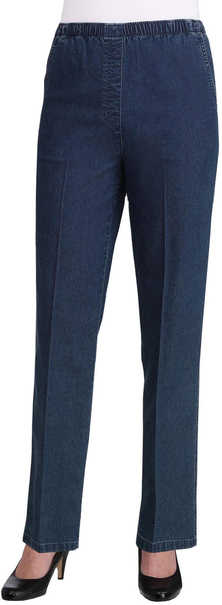Alia petite chambray denim pull on jeans ebay for Chambray jeans