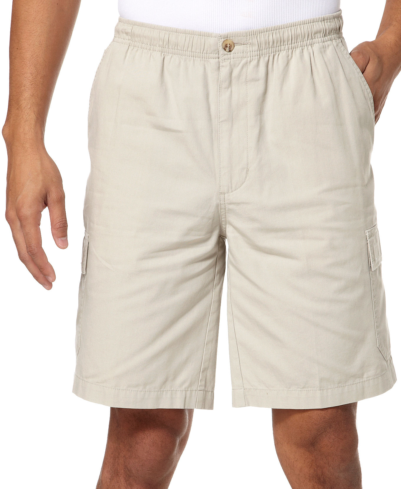 Windham Pointe Elastic Waist Mens Cargo Shorts | eBay