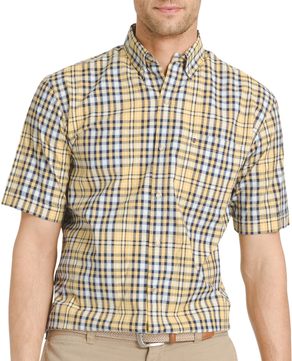 Izod Mens Moisture Wicking Poplin Plaid Shirt Ebay