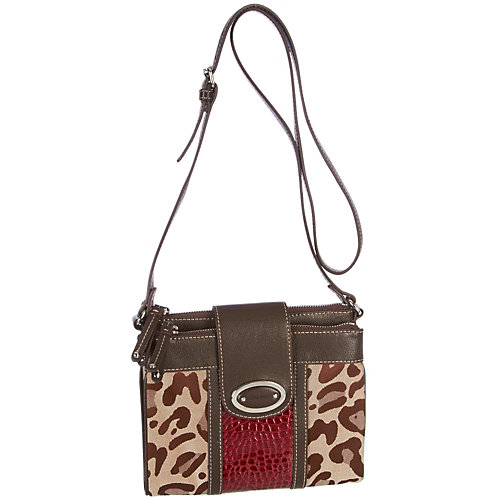Nine West® Leopard Jacquard Crossbody Handbag