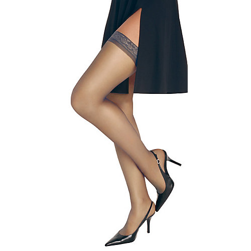 Hanes Silk Reflections Thigh High Pantyhose