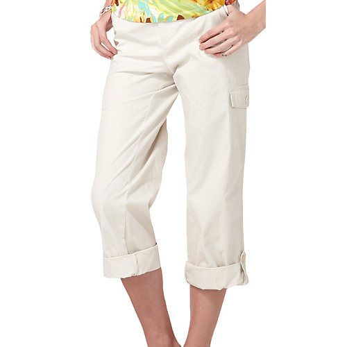 Caribbean Joe Belted Flap Pocket Capris