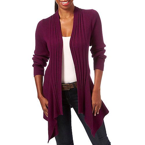 Nue Options Solid Ribbed Cardigan