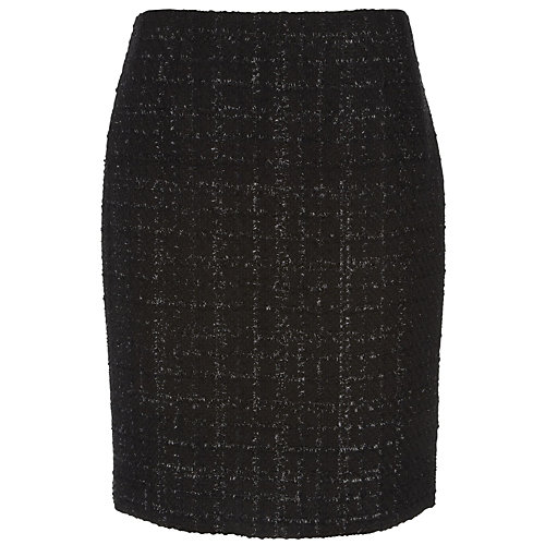 Evan Picone Hyde Park Metallic Bouclé Skirt