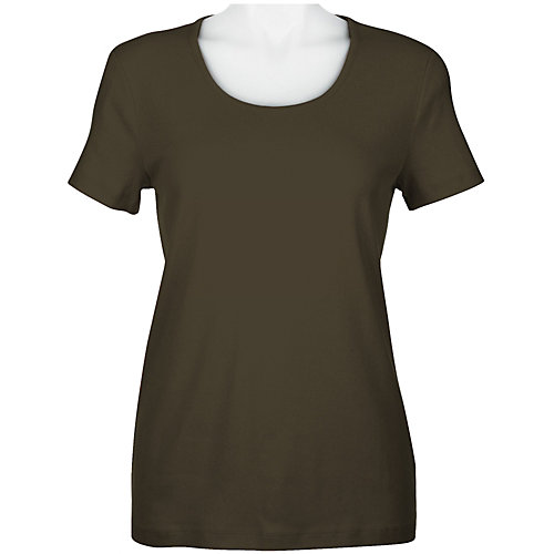 Jones New York Solid Scoop Neck T-Shirt