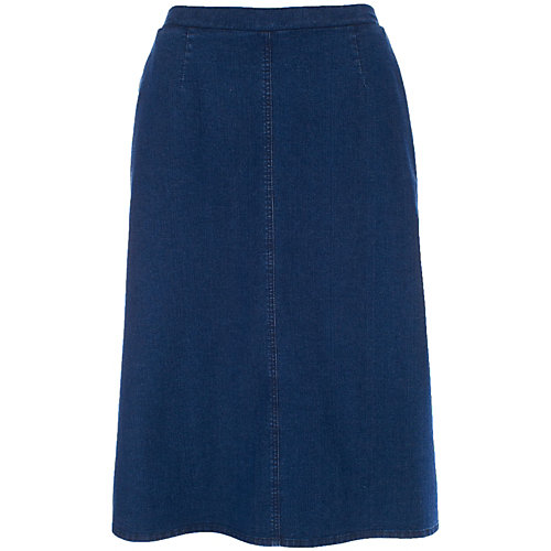 Alia Pull On Stretch Denim Skirt