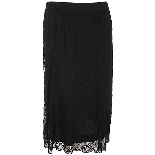 Sag Harbor Solid Gored Lace Skirt