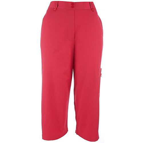 Alfred Dunner Tropical Breeze Solid Cargo Capris
