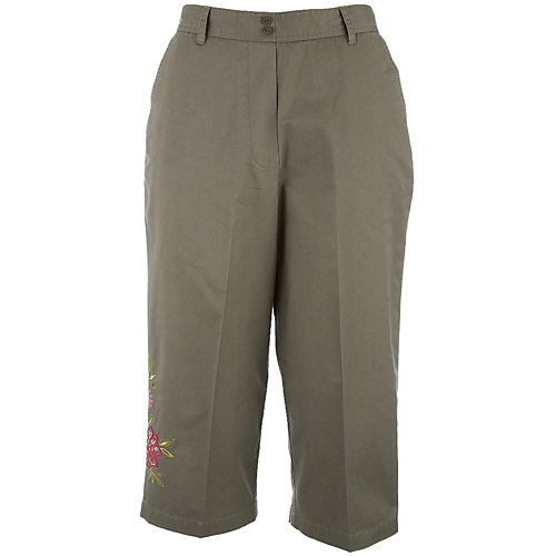 Alfred Dunner Plus Tropical Breeze Capris
