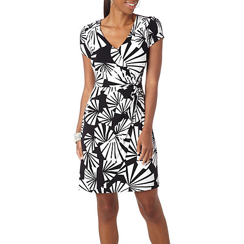 Ronni Nicole Faux Wrap Pleated Dress