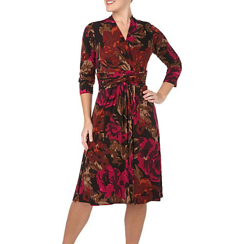 Ronni Nicole® Floral Twist Front Surplice Dress