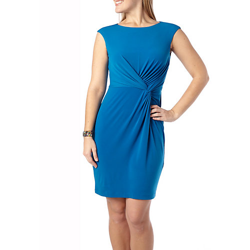 London Times Petite Knot Front Dress