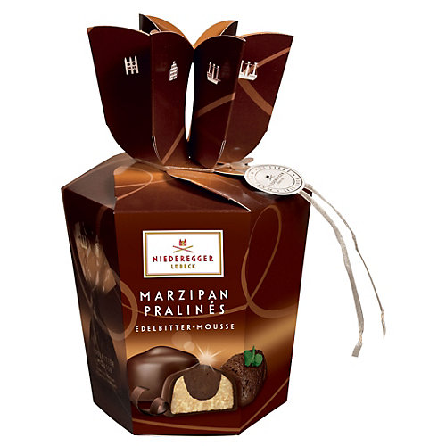 Marzipan Pralines Dark Chocolate Mousse Candy