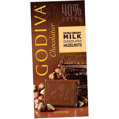 Godiva Milk Chocolate Hazlenut Bar