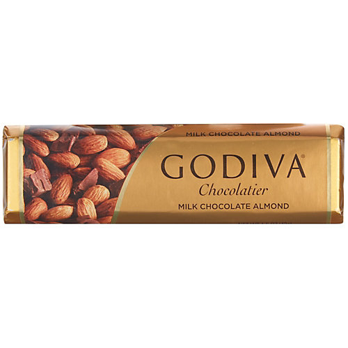Godiva 1.5 oz. Milk Chocolate Bar With Almonds
