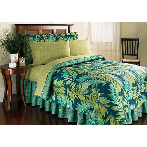 palm island home kona blue 8pc king bedding set