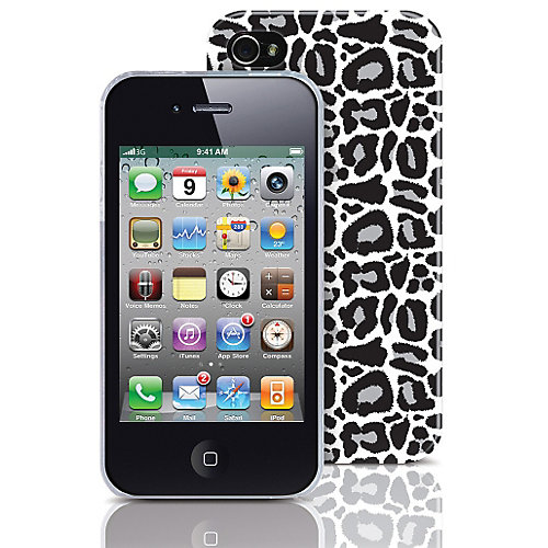 Macbeth Collection Silver Leopard Cell Phone Case