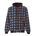 Plaid Hooded Sweatshirt - Fleece Lined