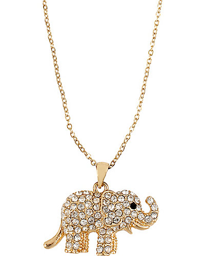 3 WAYS PAVE ELEPHANT PENDANT MULTI