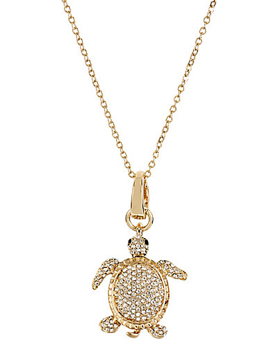 3 WAYS PAVE TURTLE PENDANT MULTI