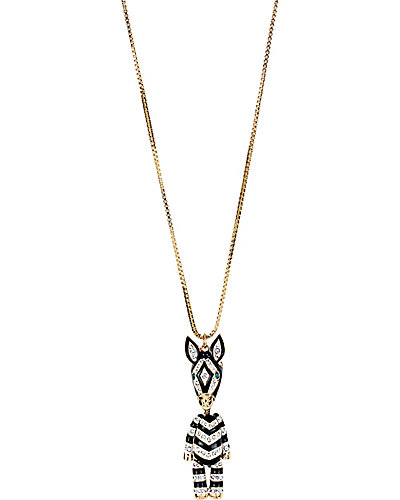 3D ZEBRA LONG PENDANT MULTI