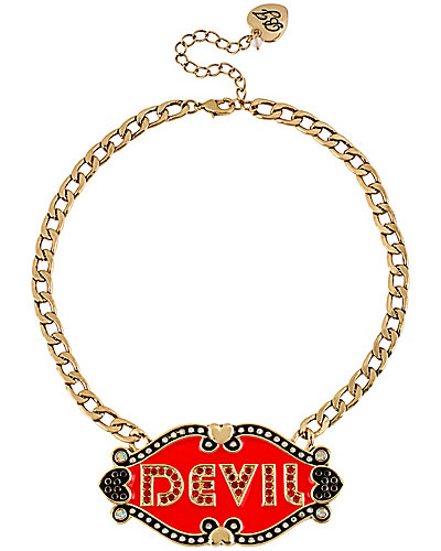 A&D ANGEL DEVIL 2 SIDED PLATE NECKLACE MULTI