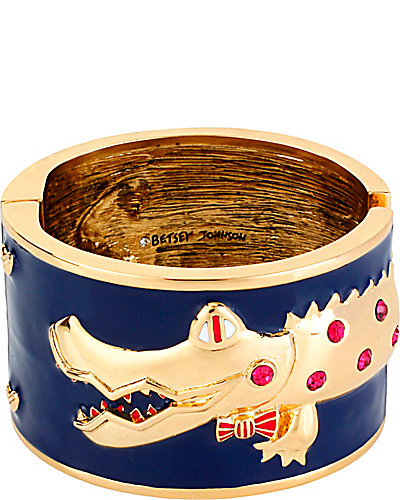 ALLIGATOR BANGLE BRACELET NAVY