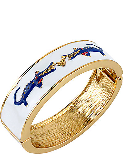 ALLIGATOR HINGE BANGLE WHITE