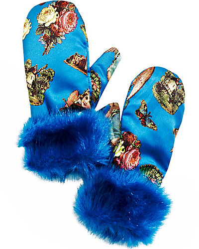 ANGEL CAKE MITTENS TEAL
