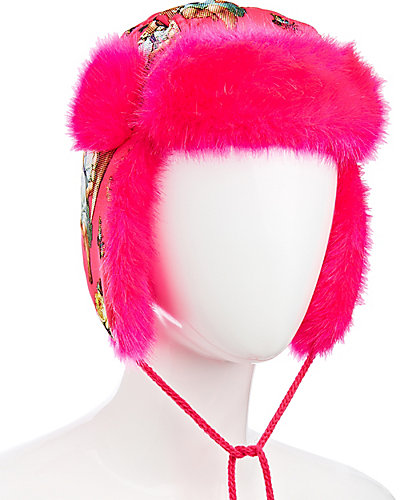 ANGEL CAKE TRAPPER HAT MAGENTA