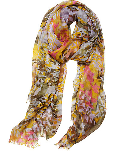 ANIMAL GAUZE SCARF YELLOW